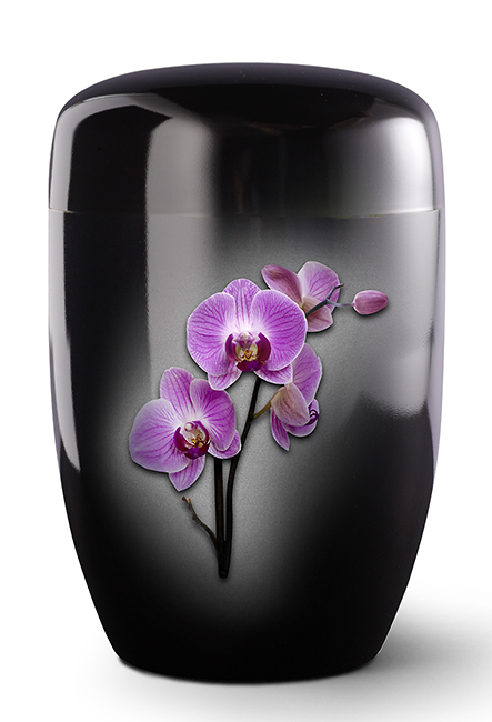 Zwarte Design Urn Roze Orchidee (4 liter)