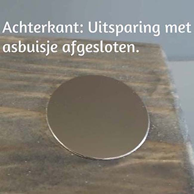 3D Mini Urn Hart met Asbol en Asbuisje, Zwart of Wit (0.015 liter)