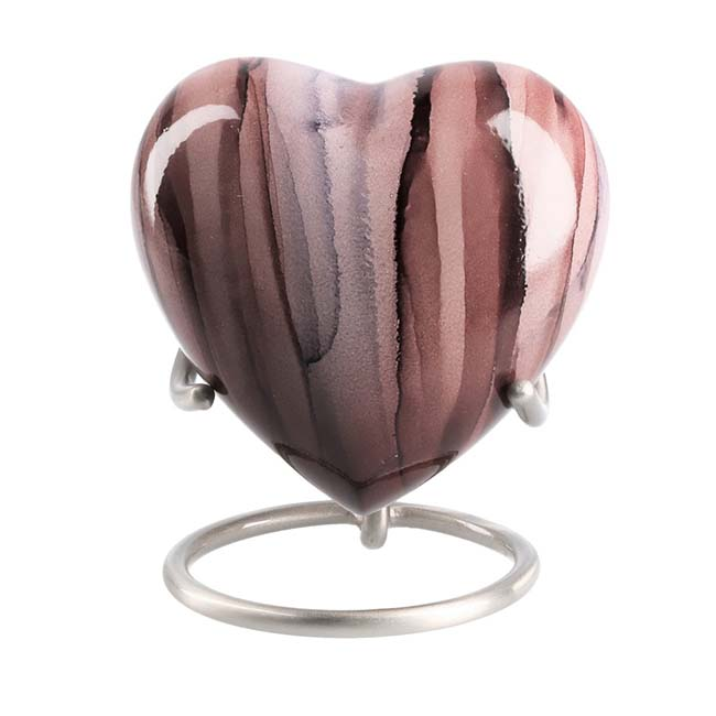 Elegance Hart Urn Pink Stripes (0.1 liter)