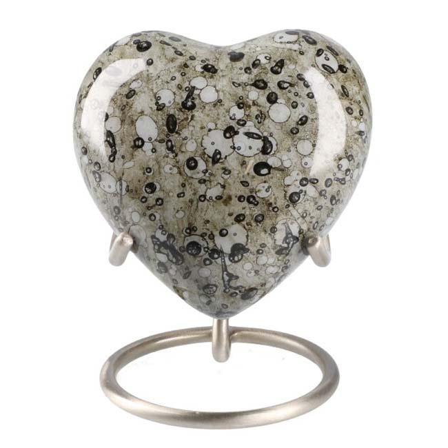 Elegance Hart Dierenurn Stained Marble Look (0.1 liter)