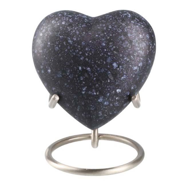 Elegance Hart Urn Black Marble Look (0.1 liter)
