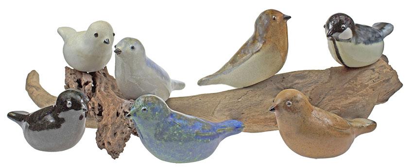 Vogel Urntje Annabel, Parelwit-Goudgeel (0.06 liter)
