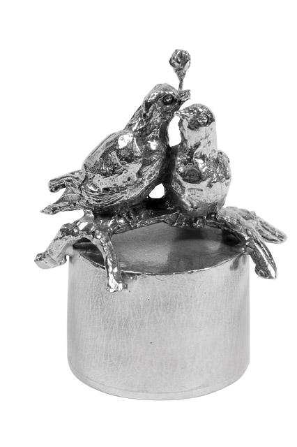Asbeeldje Eeuwige Liefde - Voor Altijd, Zilver (0.04 liter)