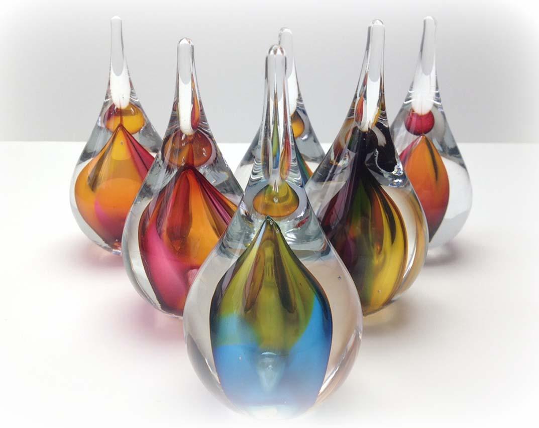 Kristalglazen 3D Mini Traan Urn Meerkleurig (0.05 liter)
