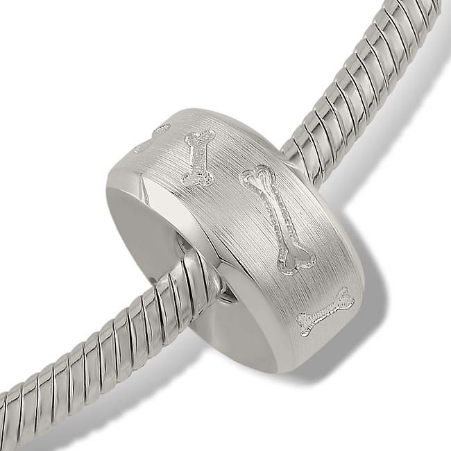 Strak Design Pet Memorial Bead Botjes - Zilver