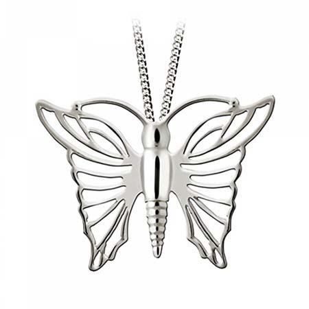 Zilveren Assieraad Vlinder Opengewerkt