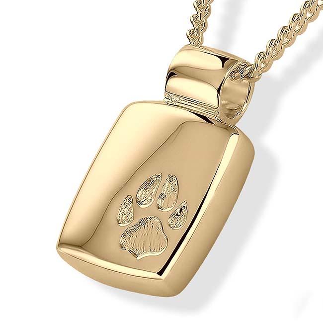Gouden Asmedaillon met Pootafdruk