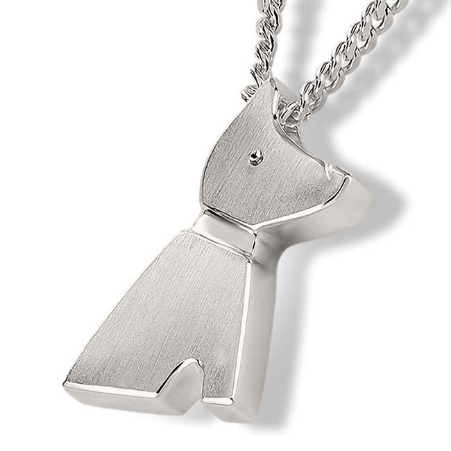 Zilveren Ashanger Hondje