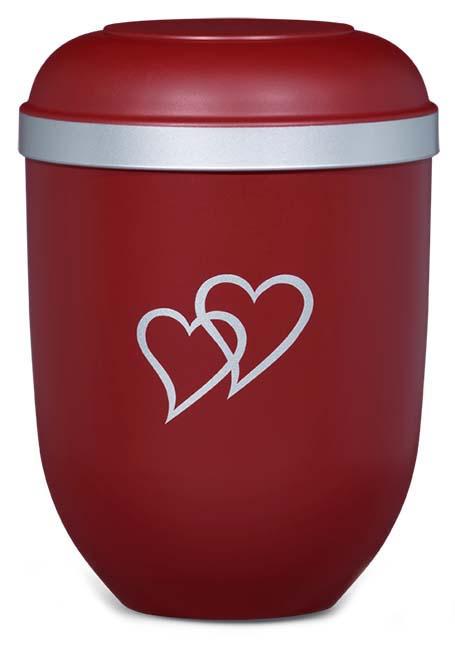 Biologisch Afbreekbare Eco Urn - Silver Hearts (4.5 liter)