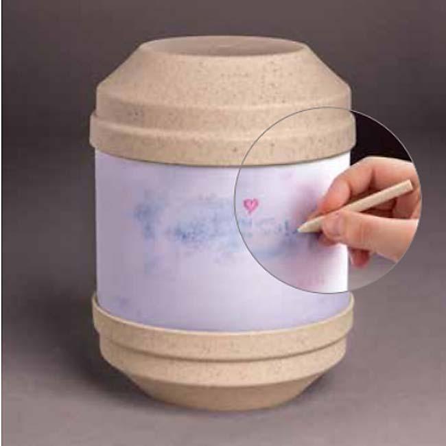 Biologisch Afbreekbare Eco Urn Beige, Beschrijfbaar (4 liter)
