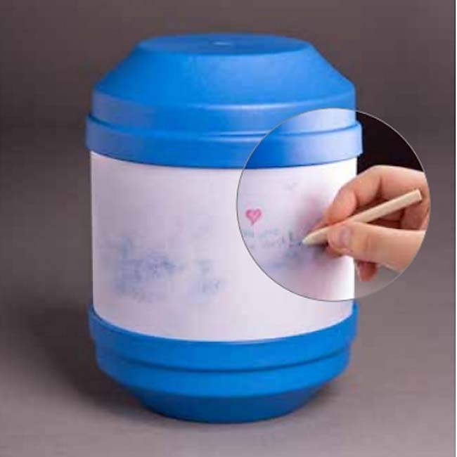 Biologisch Afbreekbare Eco Urn Blauw, Beschrijfbaar (4 liter)