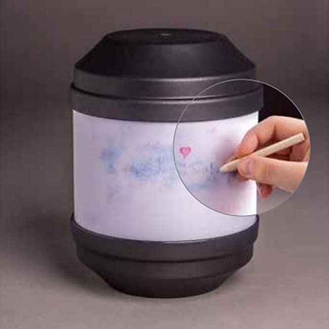 Biologisch Afbreekbare Eco Urn Antraciet, Beschrijfbaar (4 liter)