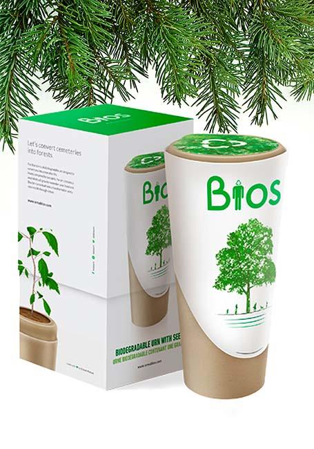 Biologisch Afbreekbare Bios Boom Urn (3 liter)