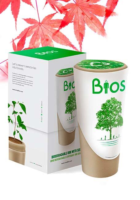 Biolologisch Afbreekbare Bios Boom Urn (3 liter)