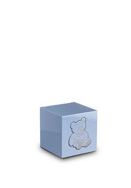 Houten Teddybeer Dieren Urn Blauw (0.3 liter)