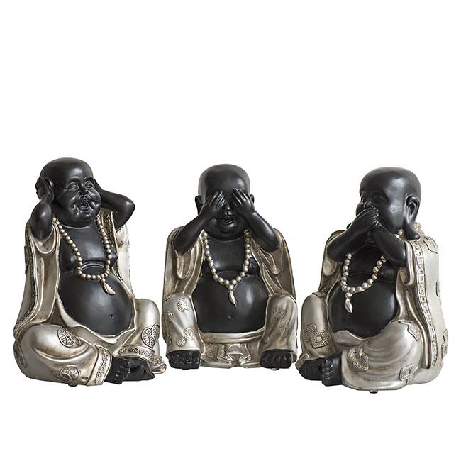 Chinese Horen, Zien, Zwijgen Boeddha Urn (3 x 1.5 liter)