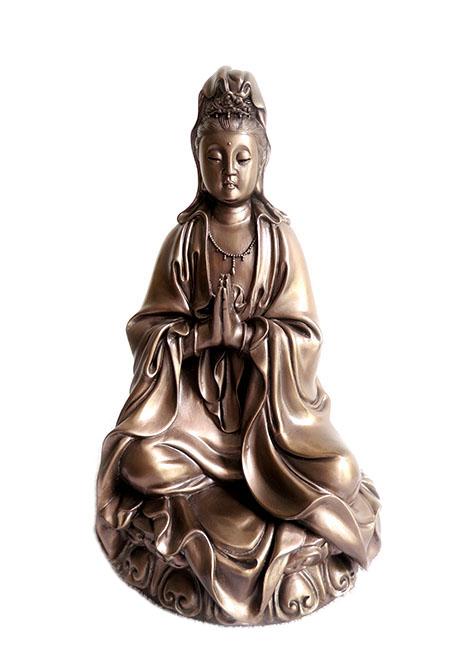Kleine Chinese vrouwelijke Buddha Urn Kwan Yin (0.95 liter)