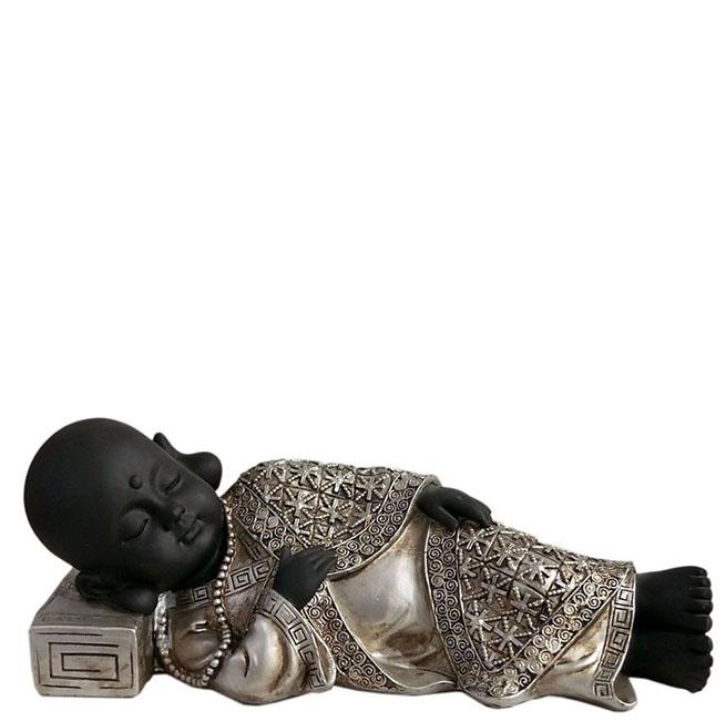 Buddha Urn Vredig Slapende Shaolin Monnik (1.2 liter)