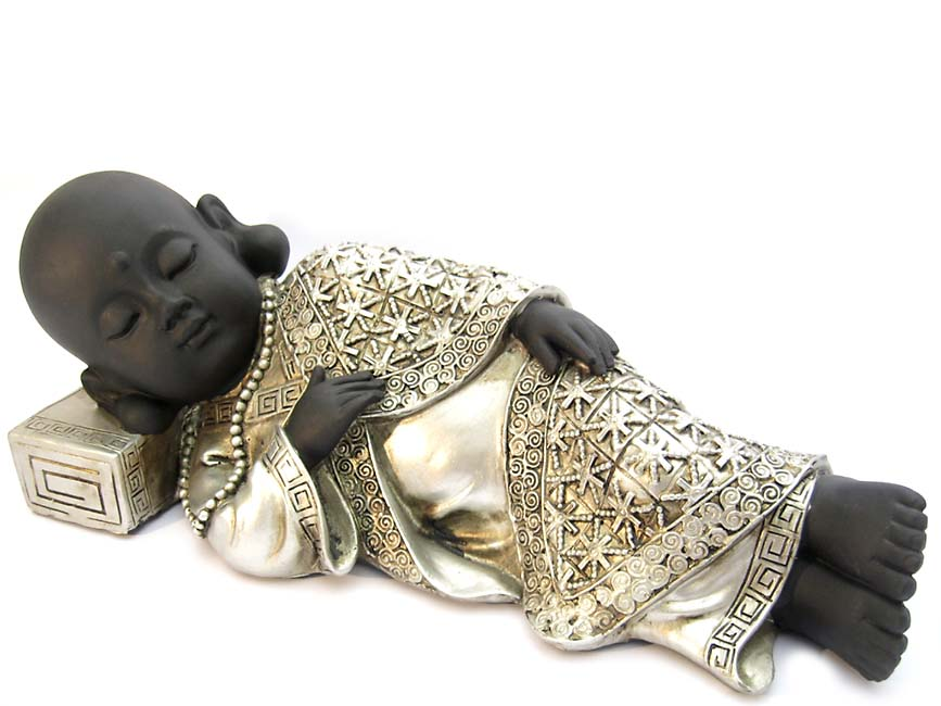 Buddha Dierenurn Vredig Slapende Shaolin Monnik (1.2 liter)