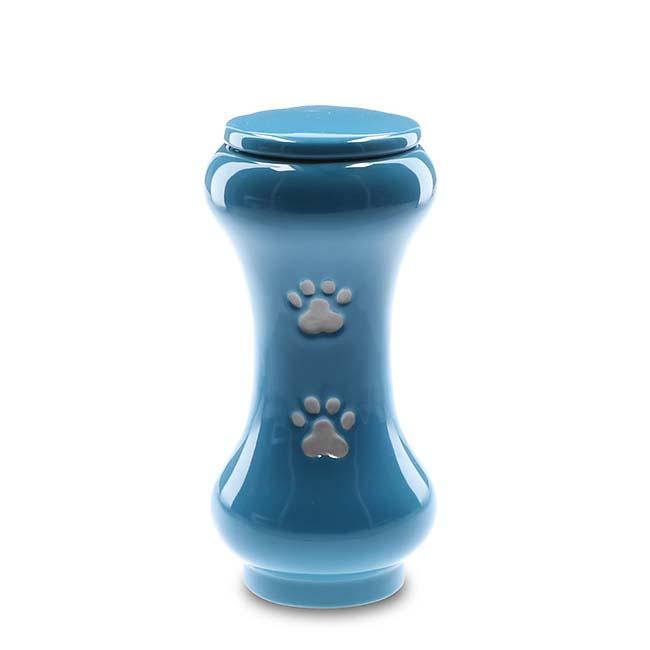 Kleine Slanke Baseline Dieren Urn Blauw (0.5 liter)