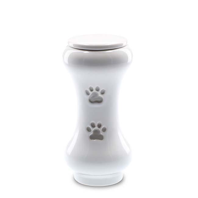 Kleine Slanke Baseline Dieren Urn Wit (0.5 liter)