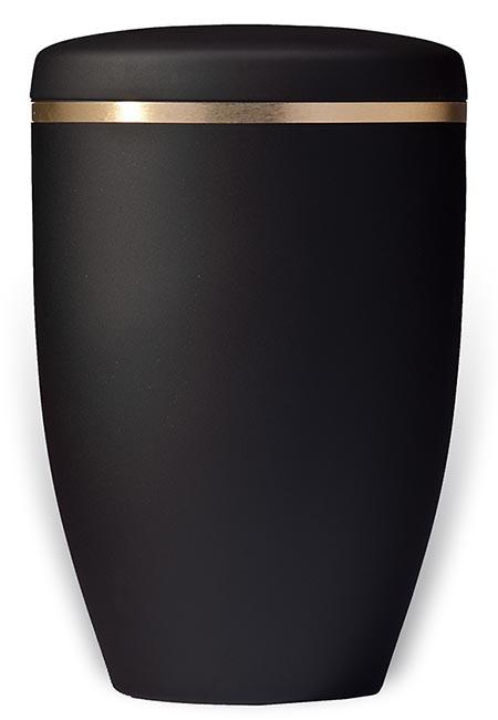 Design Urn Matzwart met Gouden Sierrand (4.8 liter)