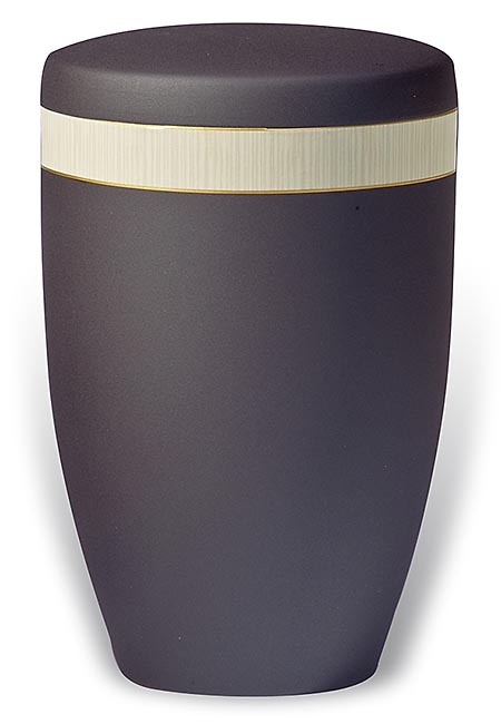 Design Urn met Berken houtnerf sierband (4 liter)
