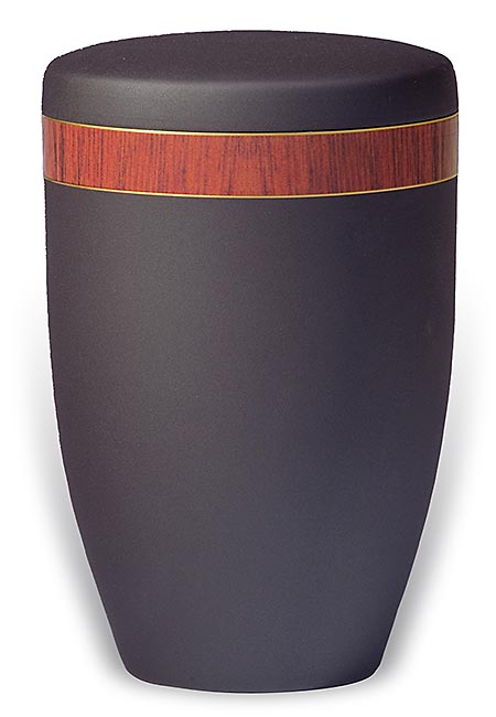 Design Urn met Zebrawood houtnerf sierband (4 liter)