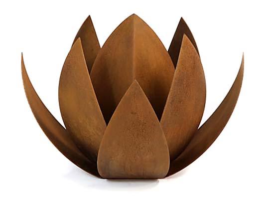 RVS Lotus Urn (7 liter, geschikt als duo urn)