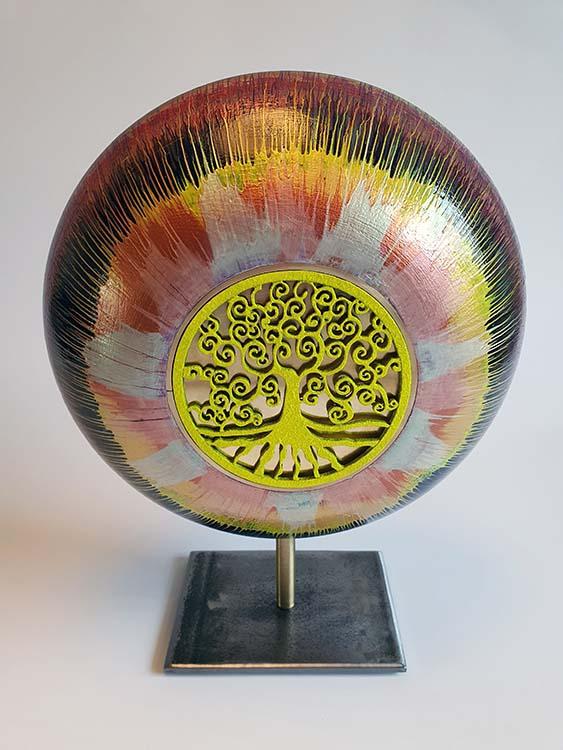 Kleine Deepsky Design Urn op Sokkel (ca. 1.5 liter)