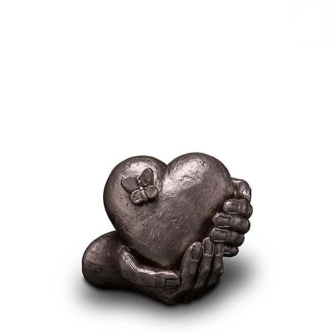 Kleine Keramische Art Urn Hartepijn Zilver (1 liter)