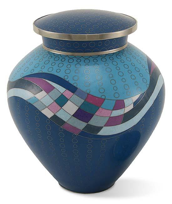 Opulence Teal Cloisonne Urn (3.5 liter)