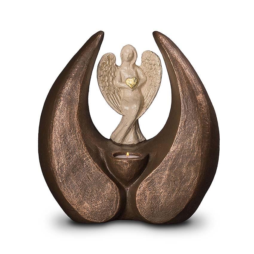 Grote Keramische Design Urn Beschermengel (3.5 liter)
