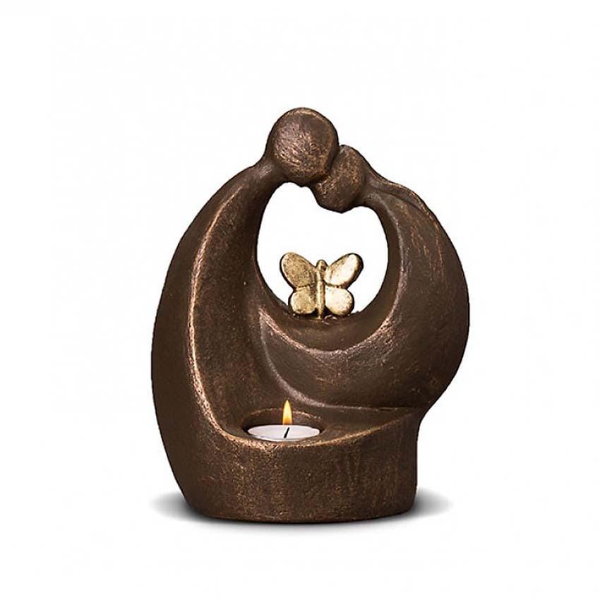 Keramische Art Urn Verlichte Troost met Vlinder (1 liter)