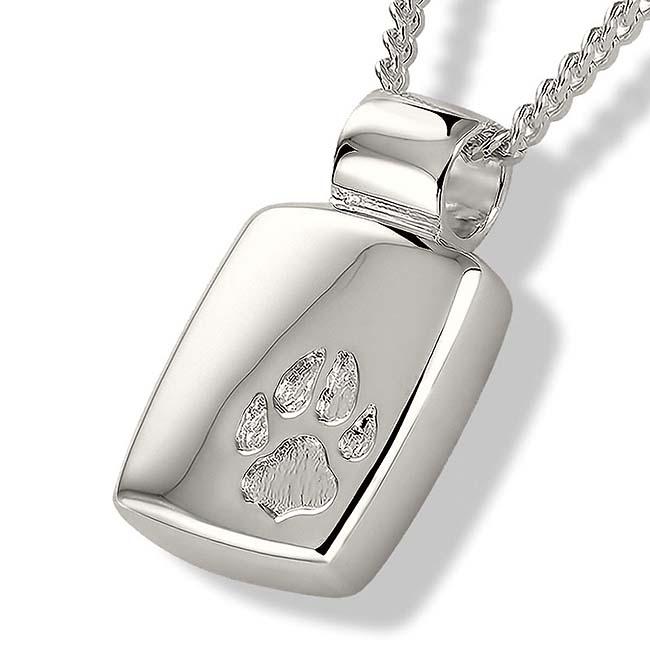 Zilveren Asmedaillon met Pootafdruk