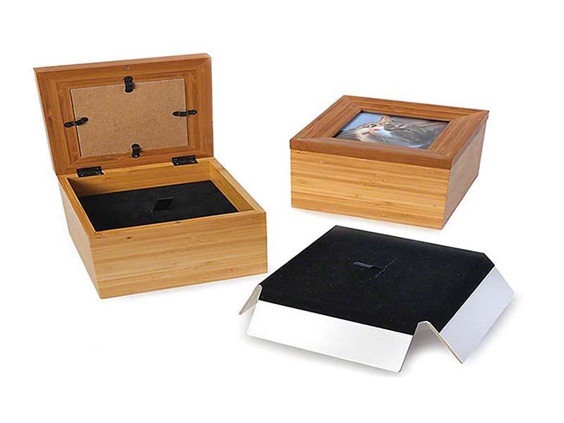 Kleine Memorybox Dierenurn met Fotolijst (0.6 liter)