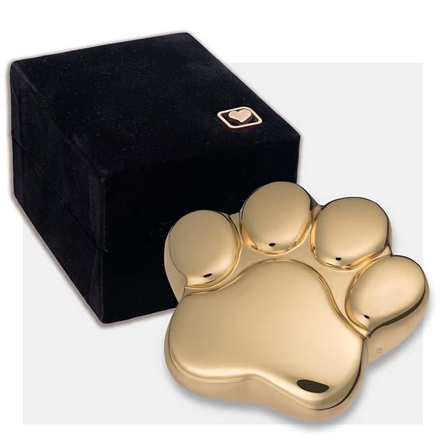 Messing Dierenurn Pootafdruk Glimmend Goud (0.05 liter)
