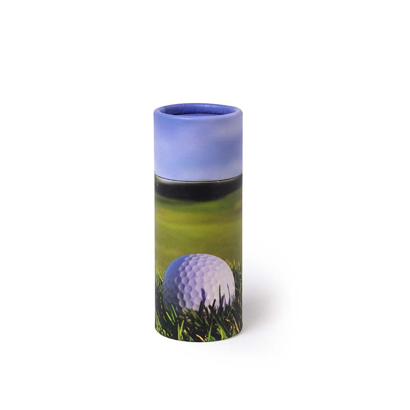 Mini Bio Eco Urn of As-strooikokertje Golfbal op Green (65 gram)