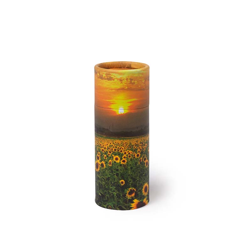 Mini Bio Eco Urn of As-strooikokertje Zonnebloemen (65 gram)