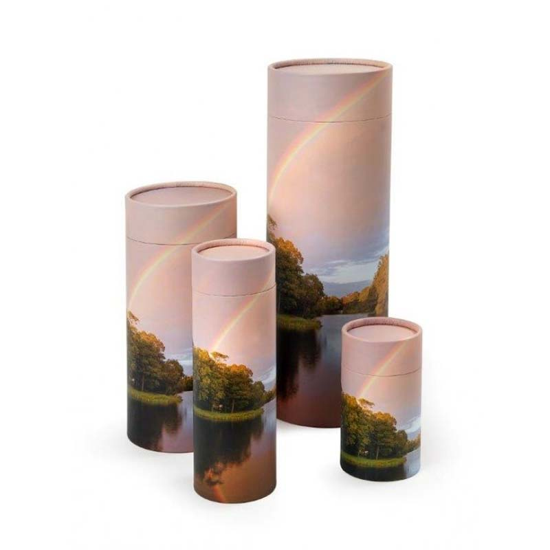 Kleine Bio Eco Urn of As-strooikoker Regenboog (0.38 liter)