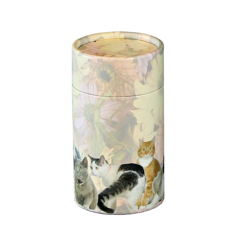 Mini Bio Eco Urn of As-strooikokertje Katten (65 gram)