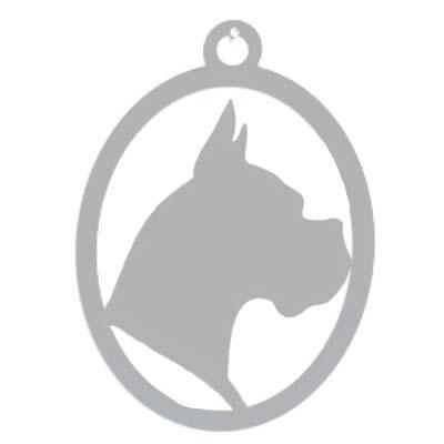 Hondenkop Wandprofiel uit Edelstaal