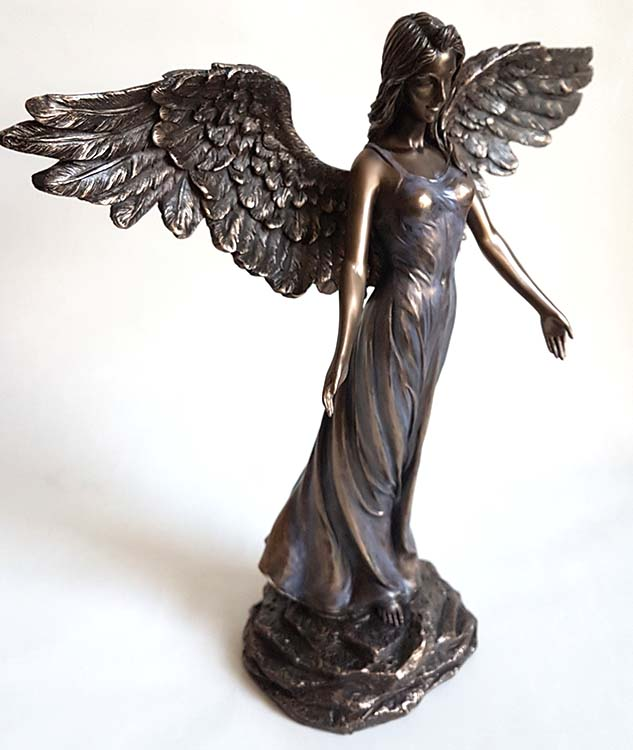 Bronskleurige Angel of Peace Mini Engel Urn (0.01 liter)