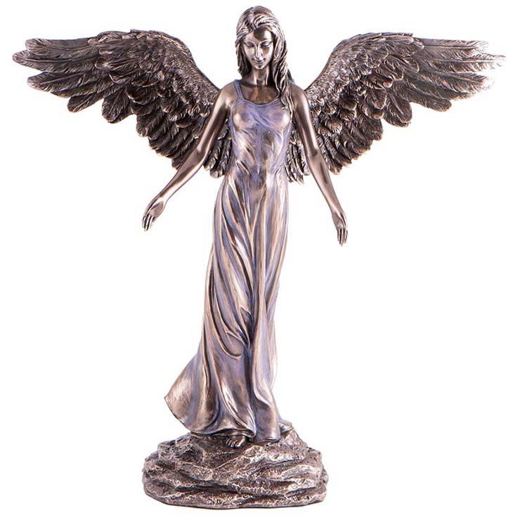 Bronskleurige Angel of Peace Mini Engel Dierenurn (0.01 liter)