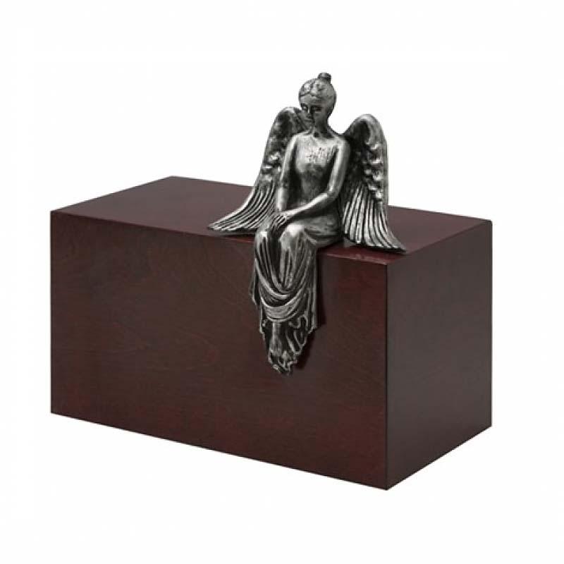 Grote Design Urn Mediterende Engel Staal (4.8 liter)