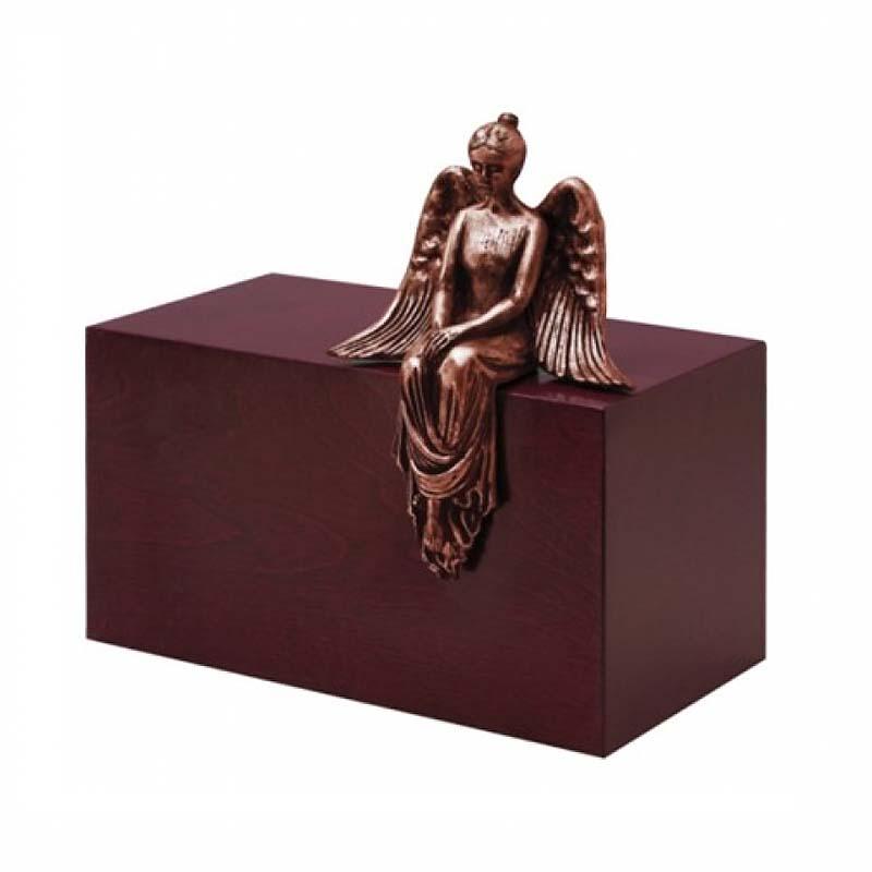 Grote Design Urn Mediterende Engel Koper (4.8 liter)