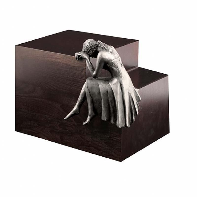 Grote Design Urn Treurende Engel Staal (4.8 liter)