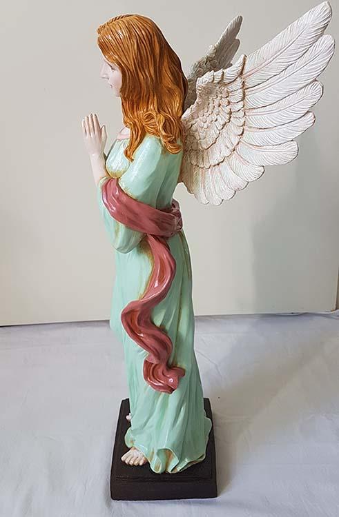 Staande XL Biddende Art Angel Urn, Handgeschilderd (ca. 4.5 liter)
