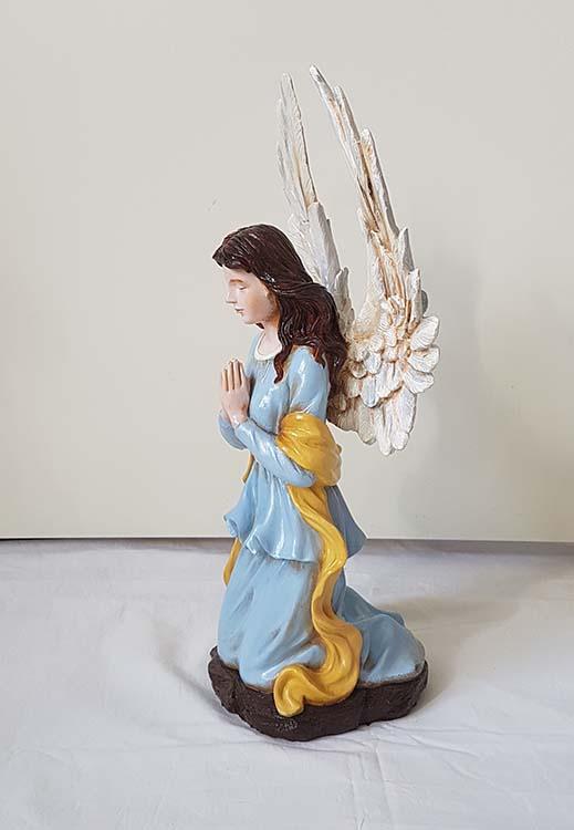 Handbeschilderde Knielend Art Angel Urn (2.5 liter)