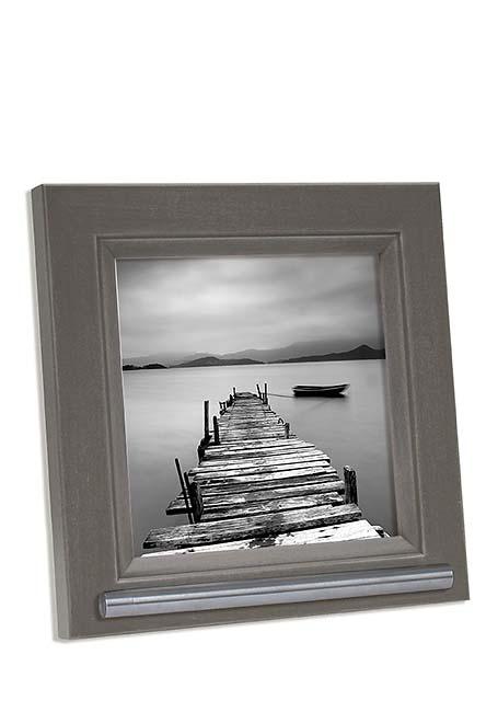 Grijs-bruine Fotolijst met RVS Asbuisje (0.025 liter)